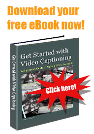 Get Started with Video Captioning eBook cover